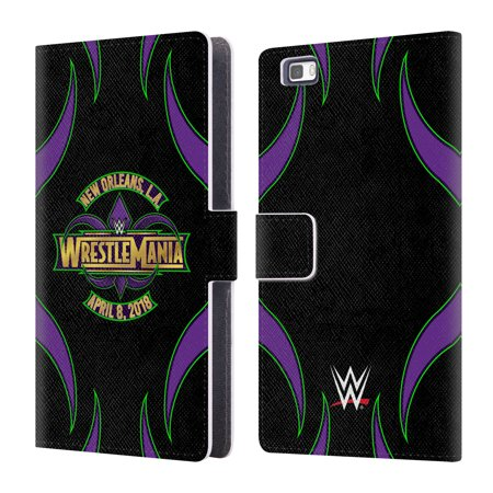 OFFICIAL WWE WRESTLEMANIA 34 LEATHER BOOK WALLET CASE COVER FOR HUAWEI PHONES 2