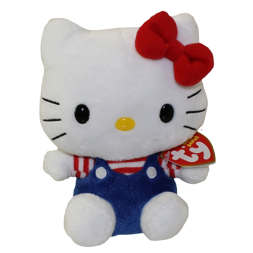 TY Beanie Baby - HELLO KITTY ( BLUE OVERALLS ) (5.5 inch)