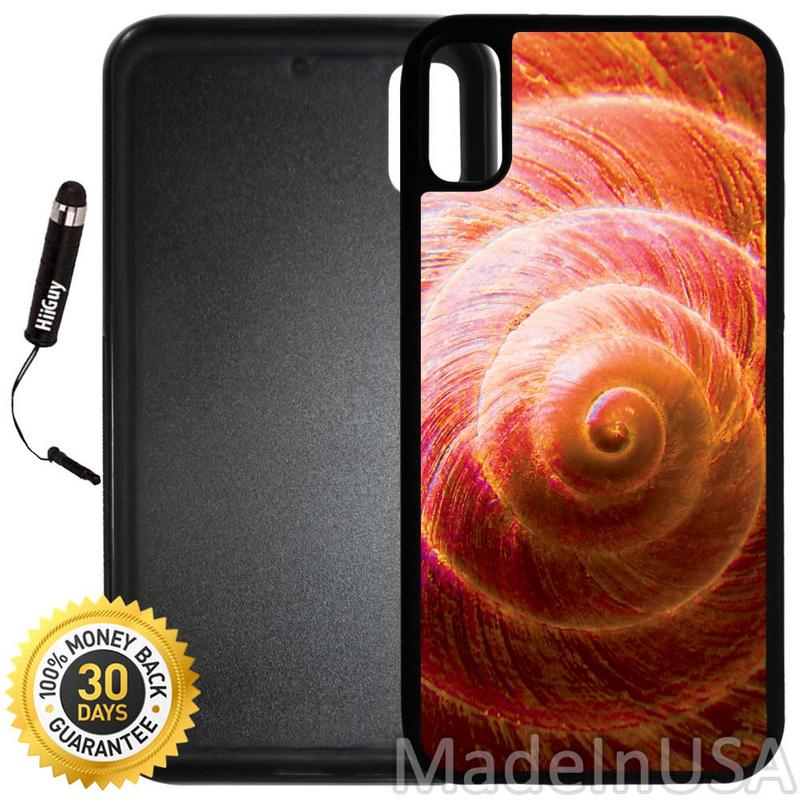 Custom iPhone X/10 Case (A2404) Edge-to-Edge Rubber Black Cover with Shock and Scratch Protection | Lightweight, Ultra-Slim | Includes Stylus Pen by INNOSUB