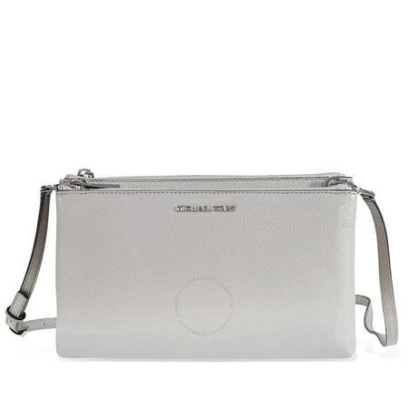 53bb7cada725b1 Michael Kors - Adele Double-Zip Crossbody Bag - Pearl Grey - Walmart.com