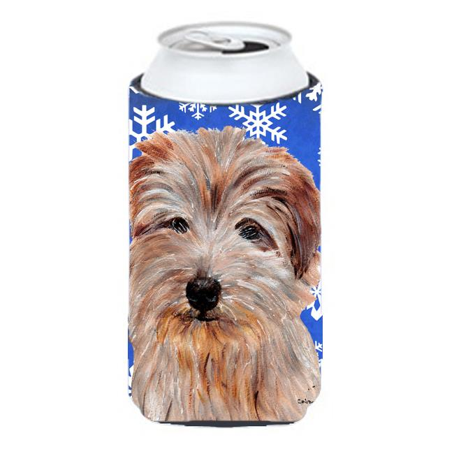 Norfolk Terrier Winter Snowflakes Tall Boy bottle sleeve Hugger - 22 To 24 Oz. - image 1 of 1