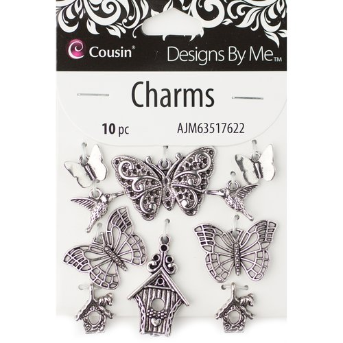 Cousin Charms Buterfly 10pc