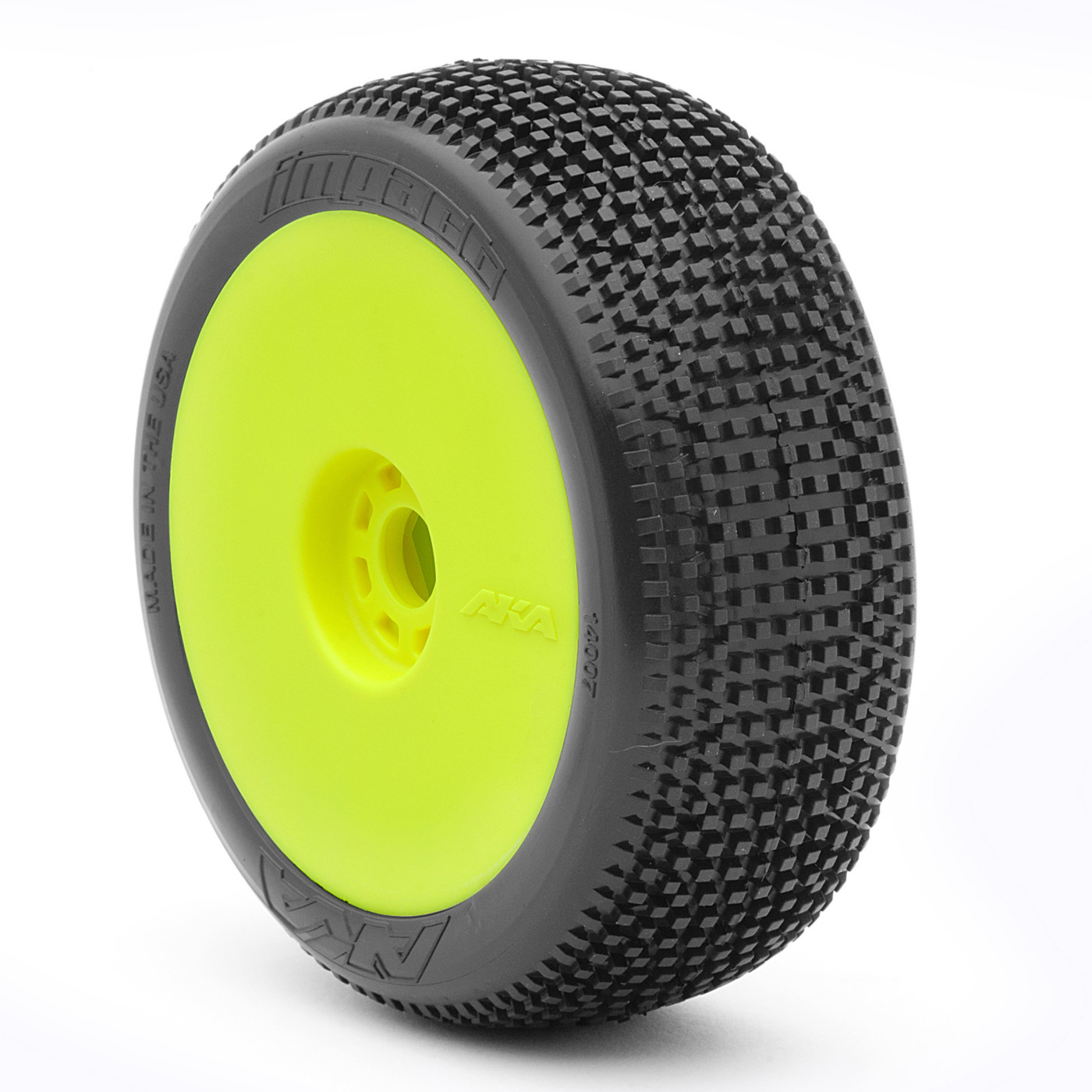 AKA PRODUCTS, INC. 1/8 Impact EVO Super Soft Front/Rear Wheel Mounted, Yellow: Buggy (2), AKA14007VRY