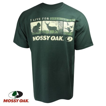 Mossy Oak Opening Day! T-Shirt (2X)- Forest Green (Mossy Oak Tie)