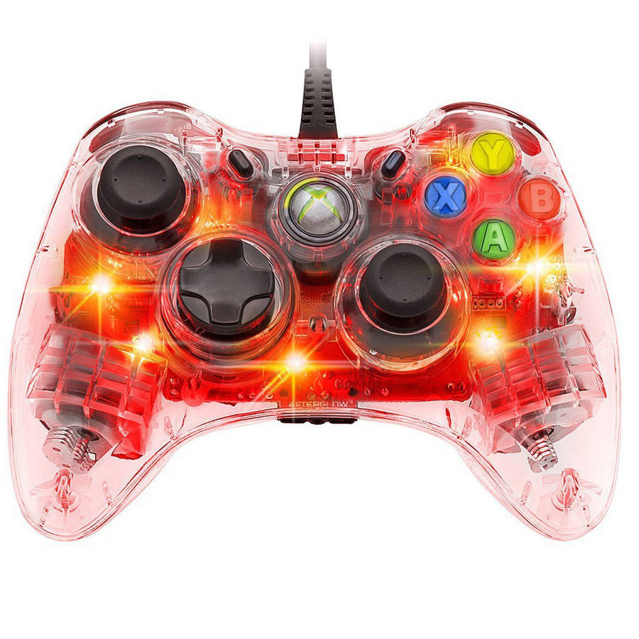PDP 3702RE Afterglow Wired Controller for Xbox 360, Red Light