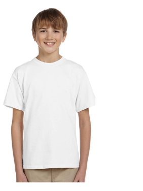 Gildan Big Boy's Seamless Double Needle Preshrunk T-Shirt, Style G2000B