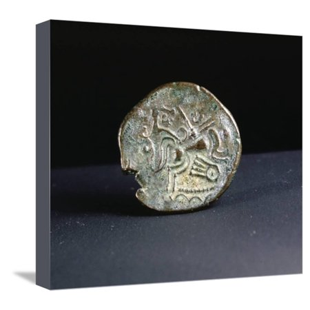 Celtic coin made by the Curiosolites of Armorica, Brittany, France, first half of 1st century BC Stretched Canvas Print Wall Art By Werner Forman