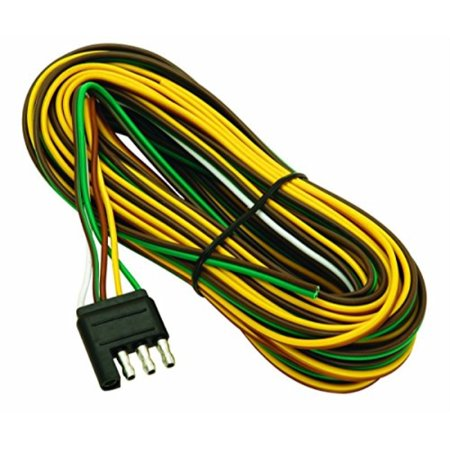 Flat Trailer Light Connector Wiring (wesbar 707261 wishbone style trailer wiring harness with 4-flat connector)