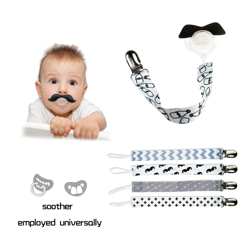Teething Toys 4Pcs Pacifier Clips for Boys and Girls Universal Baby Pacifier Holder for All Pacifiers