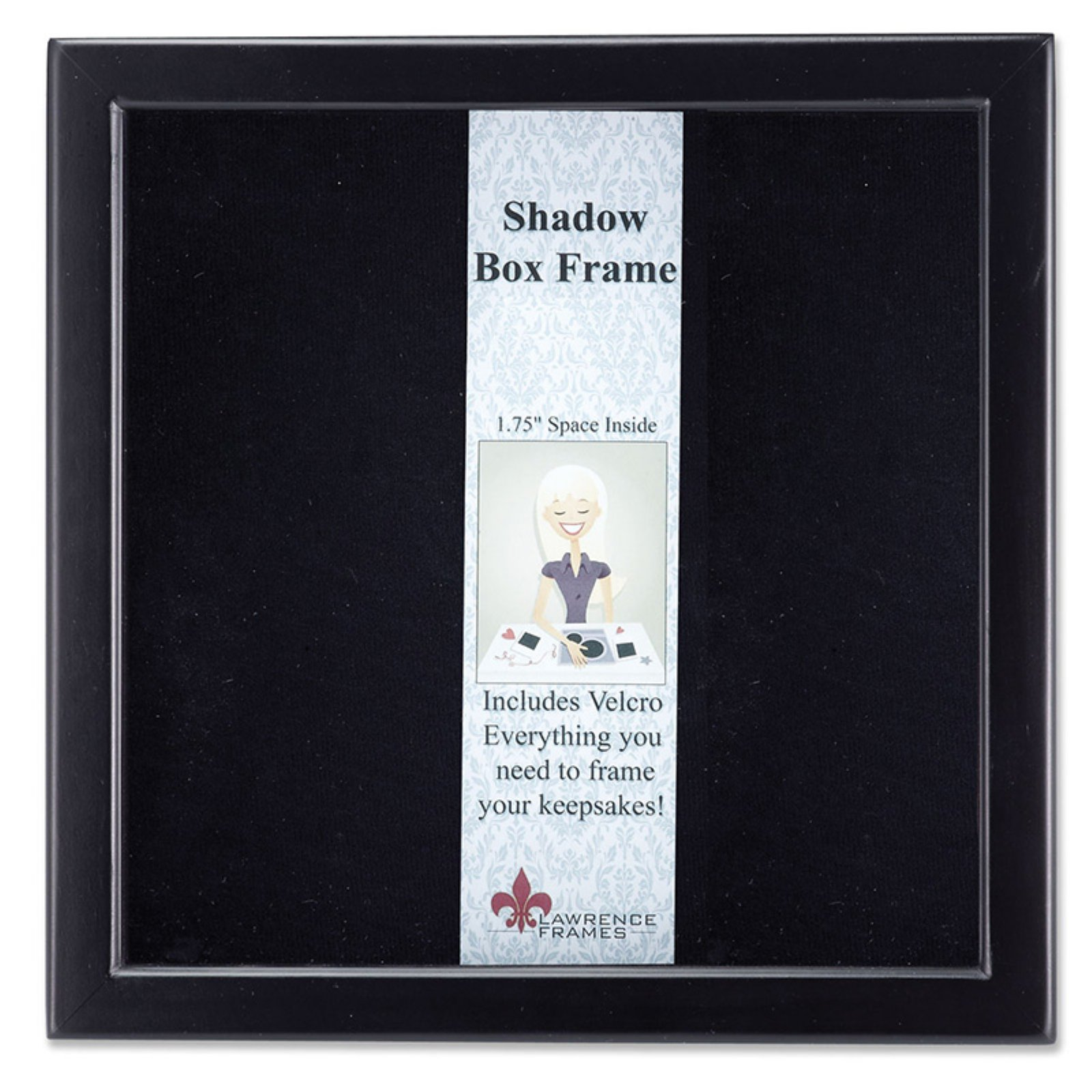 790188 espresso wood shadow box 8x8 picture frame walmart jeuxipadfo Image collections