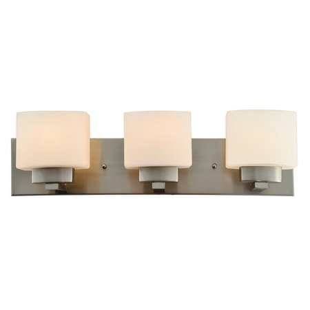 Design House 578005 Dove Creek 3-Light Vanity Light, Satin Nickel