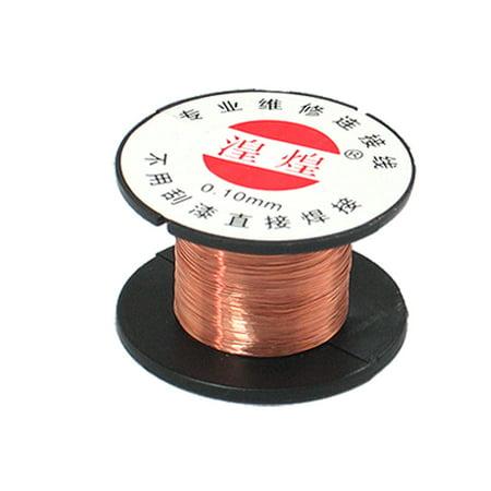 Unique Bargains 0.1mm Diameter Copper Soldering Enamelled Reel Wire