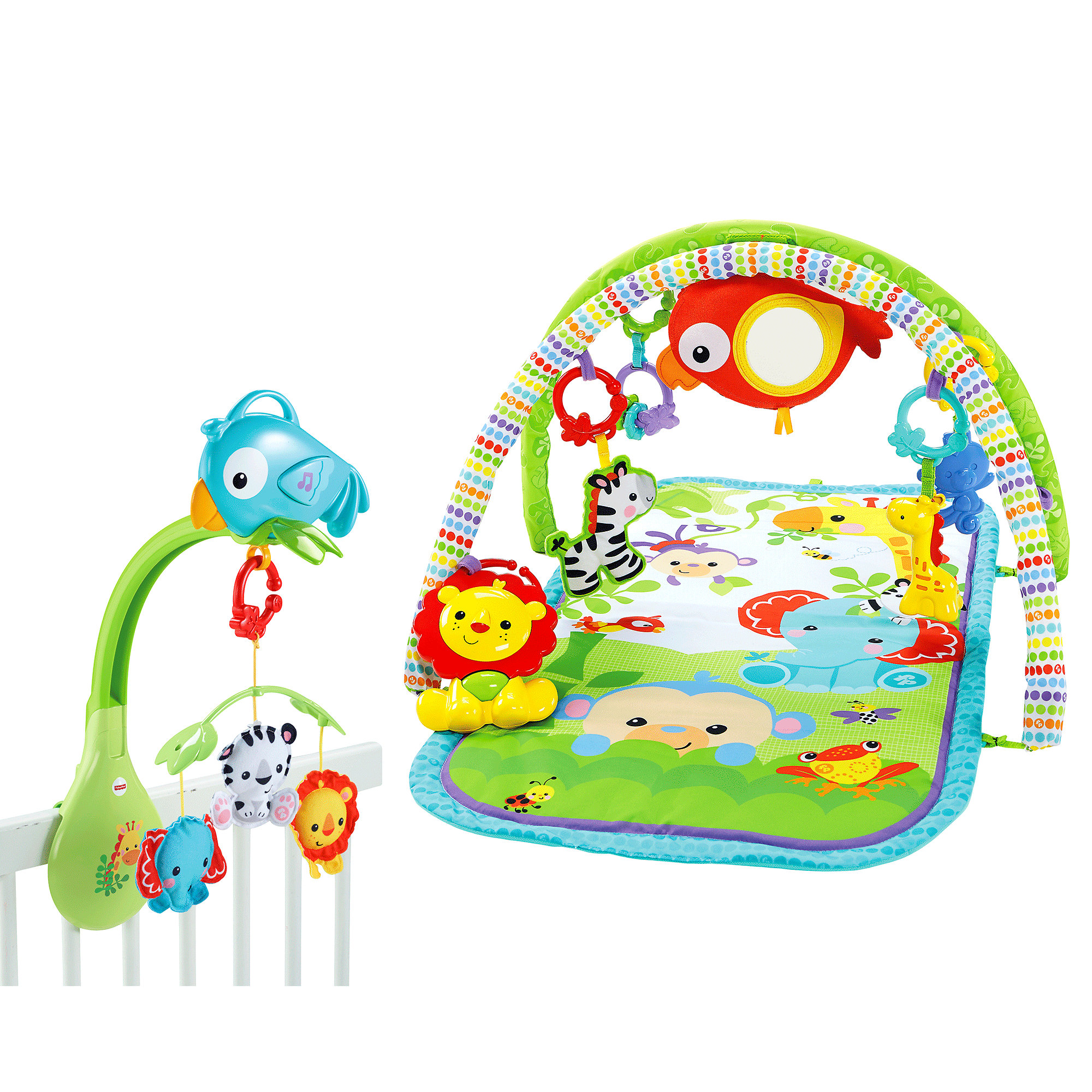 Fisher Price Rainforest Gym & Mobile Gift Set by Fisher-Price