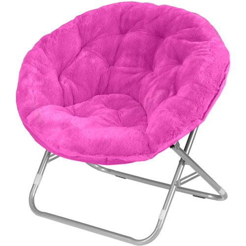 Faux Fur Saucer Moon Chair Dorm Room Lounging Furniture ...