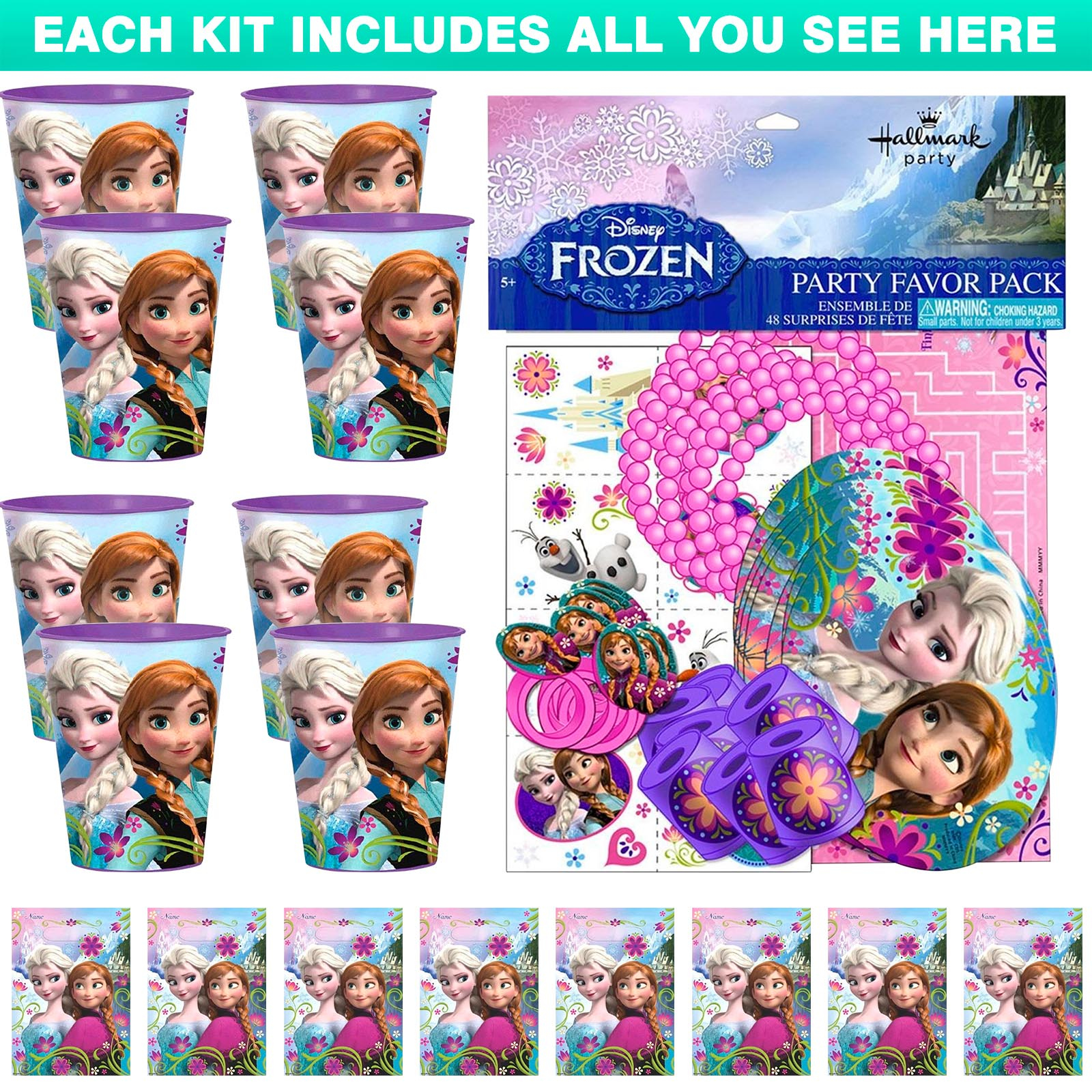 Frozen Favor Kit (For 8 Guests)