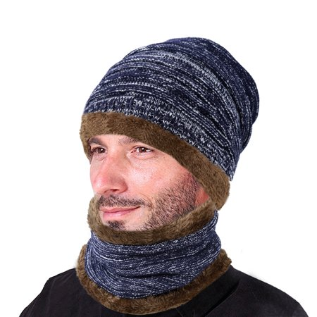 dbd883b1fe3 VBIGER Winter Beanie Hat Scarf Set Warm Knit Hat Thick Knit Skull Cap For Men  Women - Walmart.com