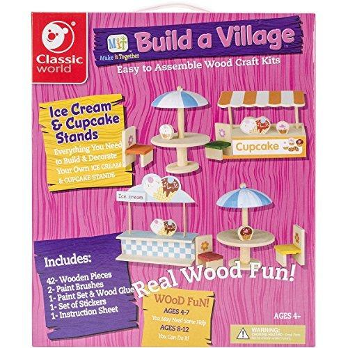 Classic Build A Village Cupcake/Ice Cream Set Building Kit