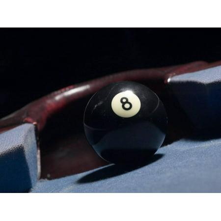 8 Ball by Corner Pocket of Billiard Table Print Wall Art - Walmart.com