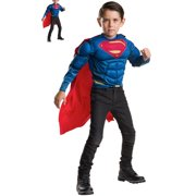 Superman Deluxe Muscle Chest Shirt and Cape Set for Kids