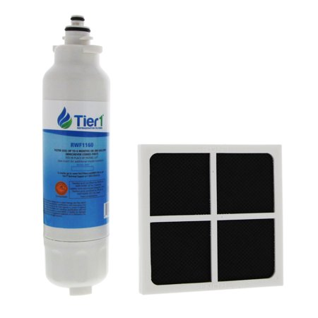 Tier1 Replacement for LG LT800P LT120F Comparable Refrigerator Water Filter and Air Filter (Best Water Bottle Purifiers)