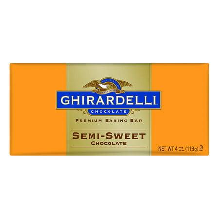 Semi Sweet Chocolate Bar (Chocolate Baking Bar, Semi-Sweet Chocolate, 4-Ounce Bars (Pack of 6) Ghirardelli )