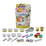 Play-Doh Kitchen Creations Rollzies Rolled Ice Cream Set with 9 Non-Toxic Colors Featuring Color Burst Compound (15 oz)