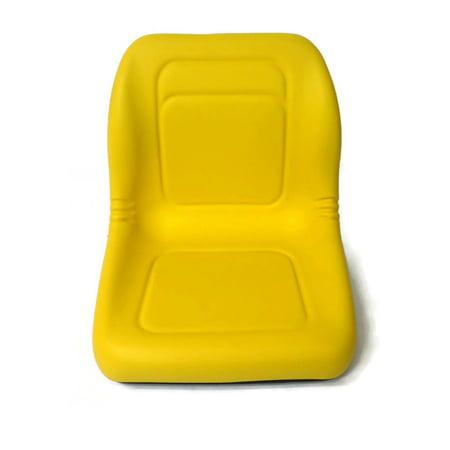 HIGH BACK SEAT w/ Pivot Rod Bracket John Deere GT242 GT245 GT262 GT275 Yellow by The ROP Shop ()