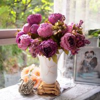 Springs Flowers Artificial Silk Peony Bouquets Home Garden Wedding Party Bridal Bouquet Decor Valentine's Day Decoration