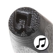 Solid Eighth Note Punch Stamp For Blanks 1/5 Inch 5mm (1)