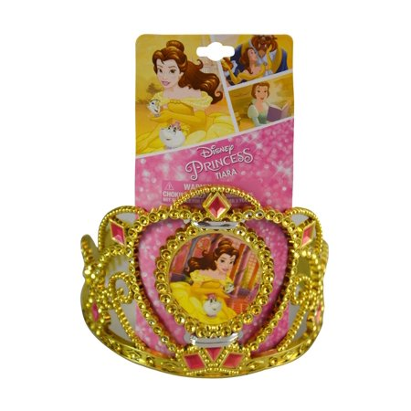 Disney Princess Beauty and the Beast Belle Tiara - Character Portrait - 6 x 5 inch - For Halloween, Dress Up, Birthdays, Pretend Play - Costume Accessories