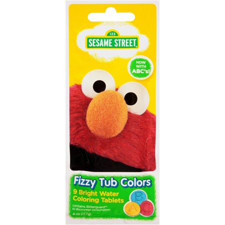 Sesame Street Fizzy Tub Colors Water Coloring Tablets 9