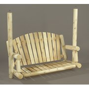 5' Natural Cedar Log-Style Outdoor Wooden Garden Swing Seat