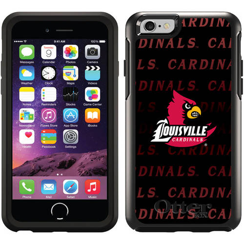 University of Louisville Repeating Design on OtterBox Symmetry Series Case for Apple iPhone 6