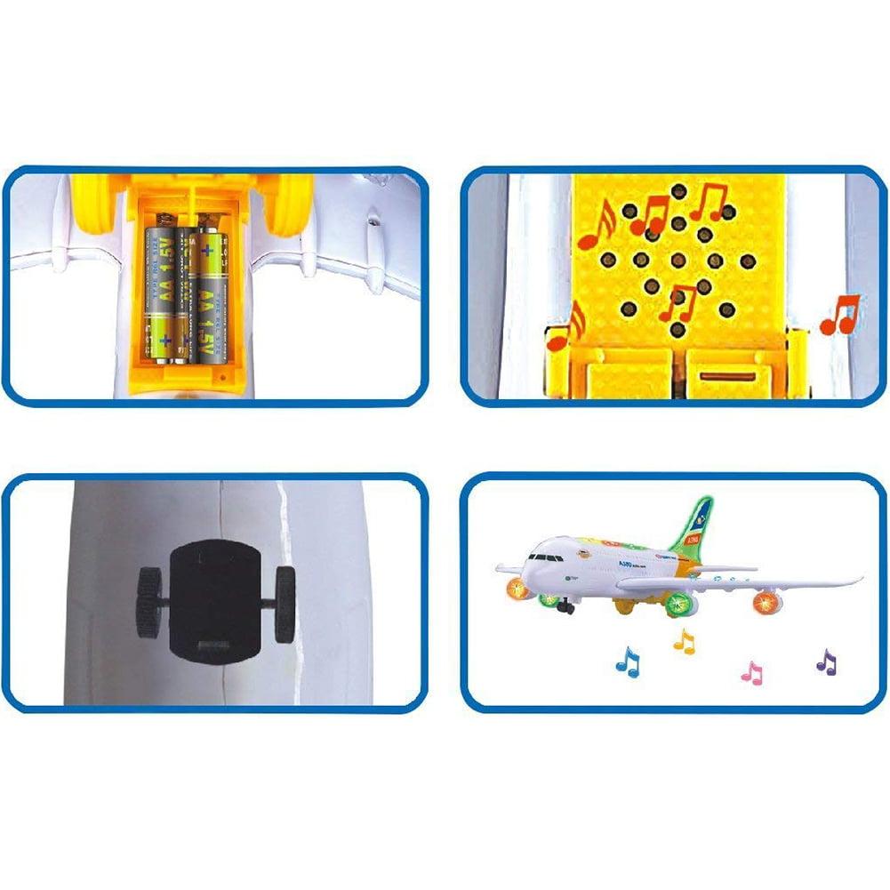 Kids Electric Airplane 360° Simulation Aircraft Jet Toy w// Flashing Light Sound
