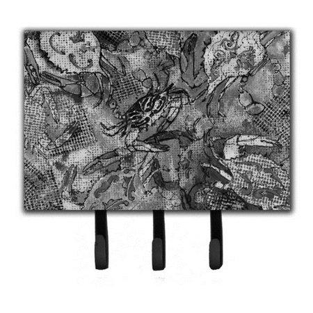 Carolines Treasures 8953TH68 Grey Canvas Abstract Crabs Leash & Key Holder - image 1 of 1