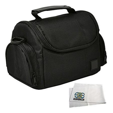 Medium Soft Padded Digital SLR Camera Travel Case/Bag with Clip-on Detachable and Adjustable Strap for Nikon COOLPIX L840, L830, L820, L810, P900, P610, P600, P530, P520, P510, P500, 1 S1, S2, J1, J2,
