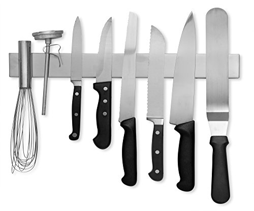 Modern Innovations 16 Inch Stainless Steel Magnetic Knife Bar With  Multi Purpose Functionality As A