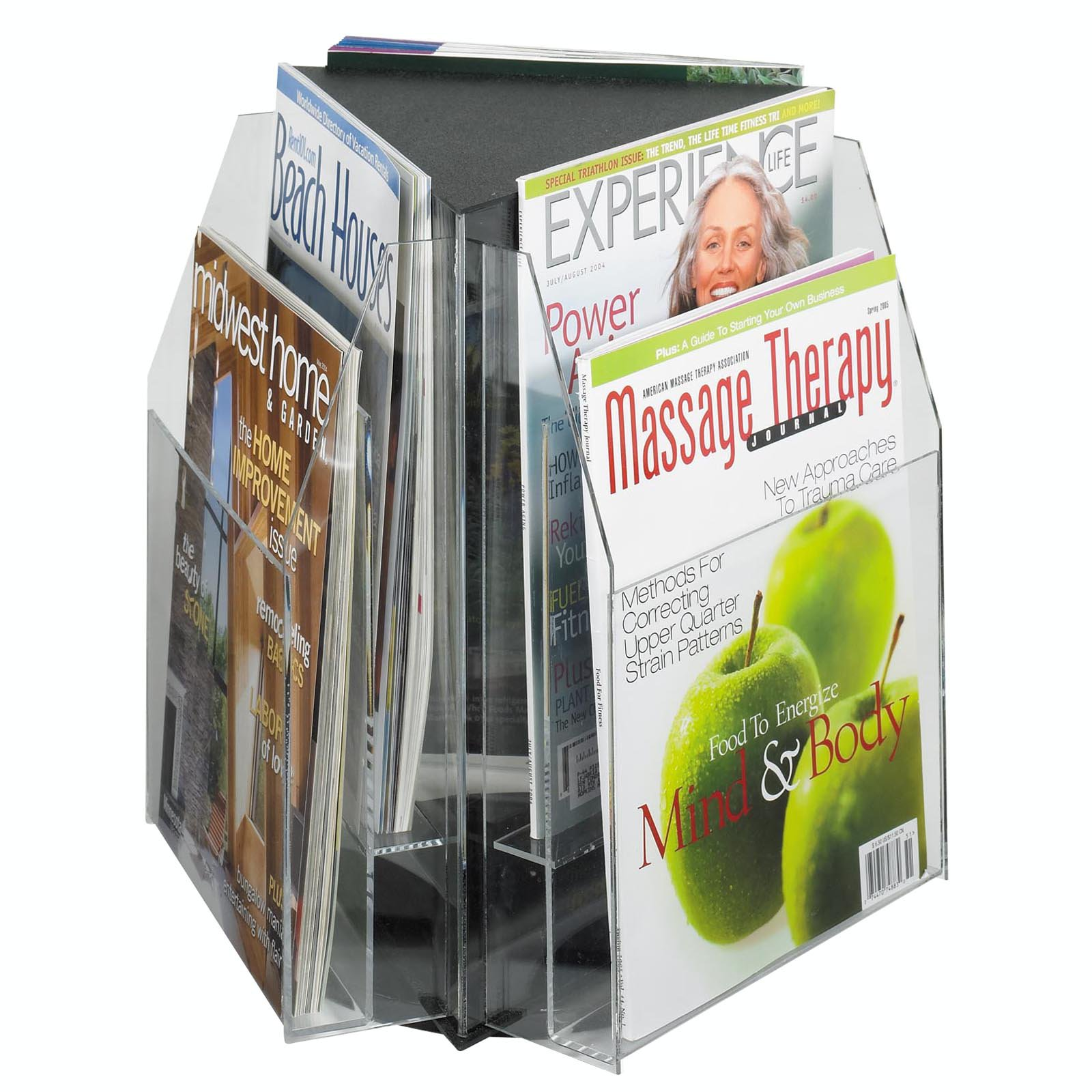 6 Magazine 2-Tier Tabletop Magazine Rack by Safco Products