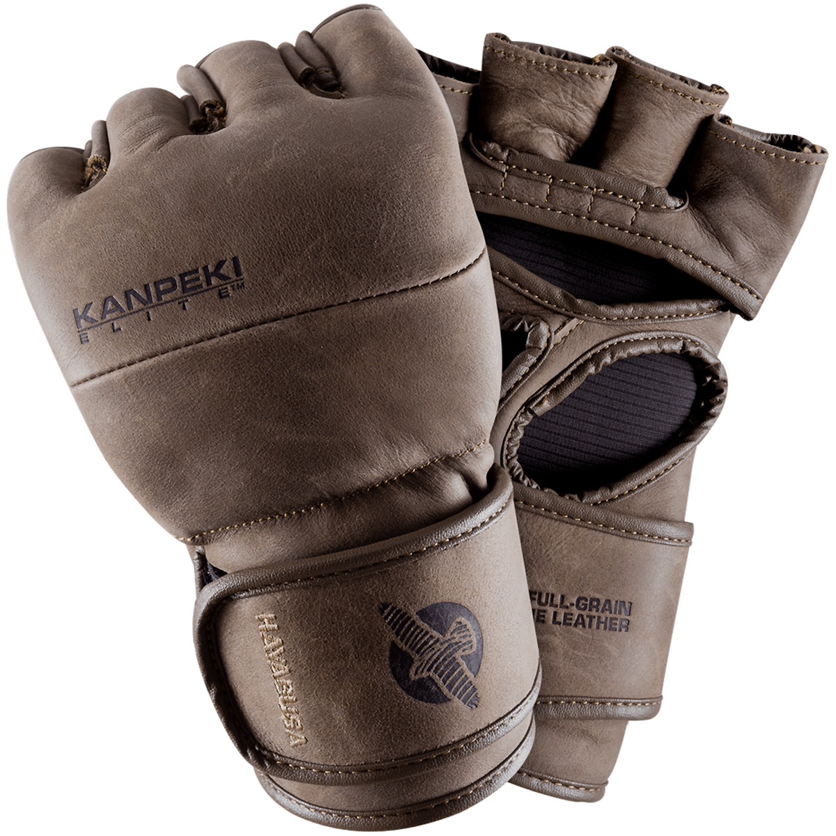 Hayabusa Kanpeki Elite 3 4 oz. MMA Hook and Loop Gloves - Brown