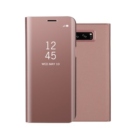 Fashion Shockproof Ultra Thin Electroplating PU Case Cover Mirror Free Flip Anti-scratch Protective Case for Samsung Galaxy Note 8 ()