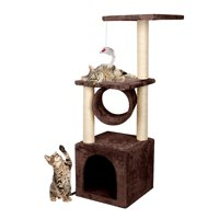 "Ediors 36"" Kitten Tree Rest & Play Tunnel Cat Condo,Cat Toys"