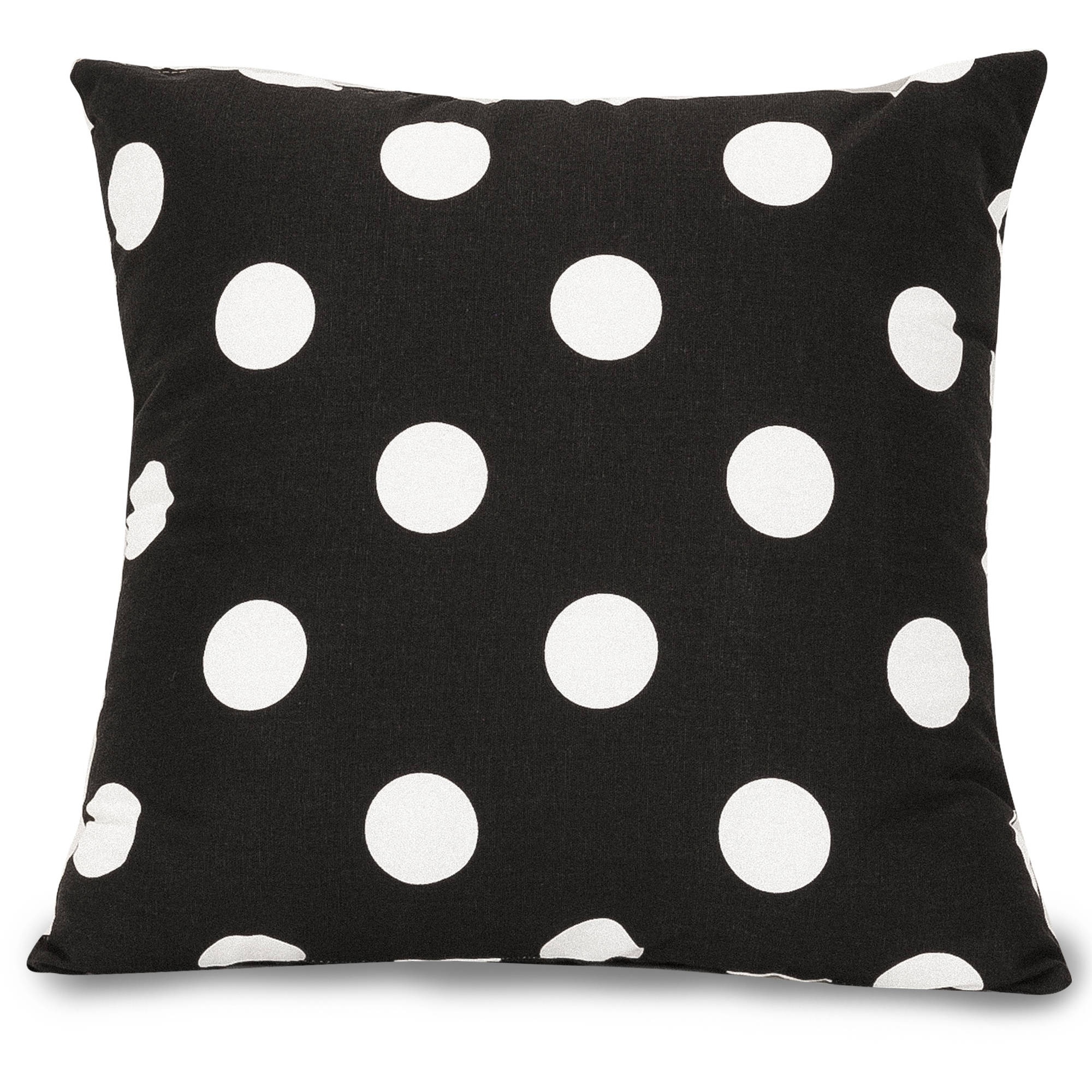 "Majestic Home Goods Black Large Polka Dot Large Decorative Pillow, 20"" x 20"""