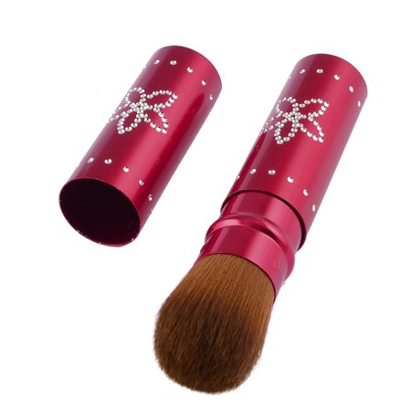 Retractable Face Brush - Lady Face Beauty Care Tool Red Alloy Handle Cosmetic Retractable Brush 0.9