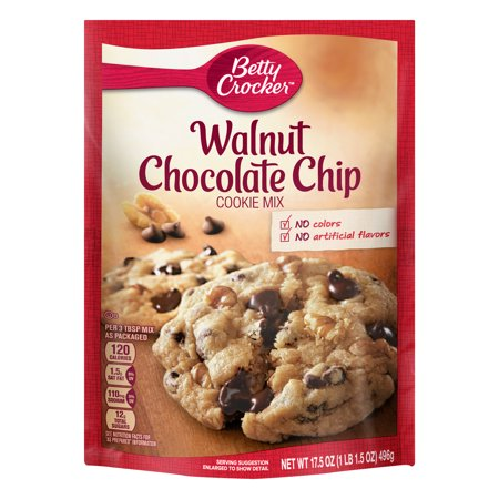 Betty Crocker Walnut Chocolate Chip Cookie Mix 17 5 Oz Box 17 5 Oz