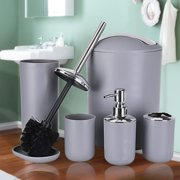 matoen Bathroom Accessories Set 6 Pcs Plastic Gift Set Tumbler Straw Set Bathroom