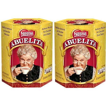 Nestle Mexican Chocolate Abuelita Drink Mix, 6 Chocolate tabs in each 19 Oz (Pack of