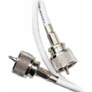 Ancor RG8X Coaxial Cable Assembly, 1 End, White, 50'