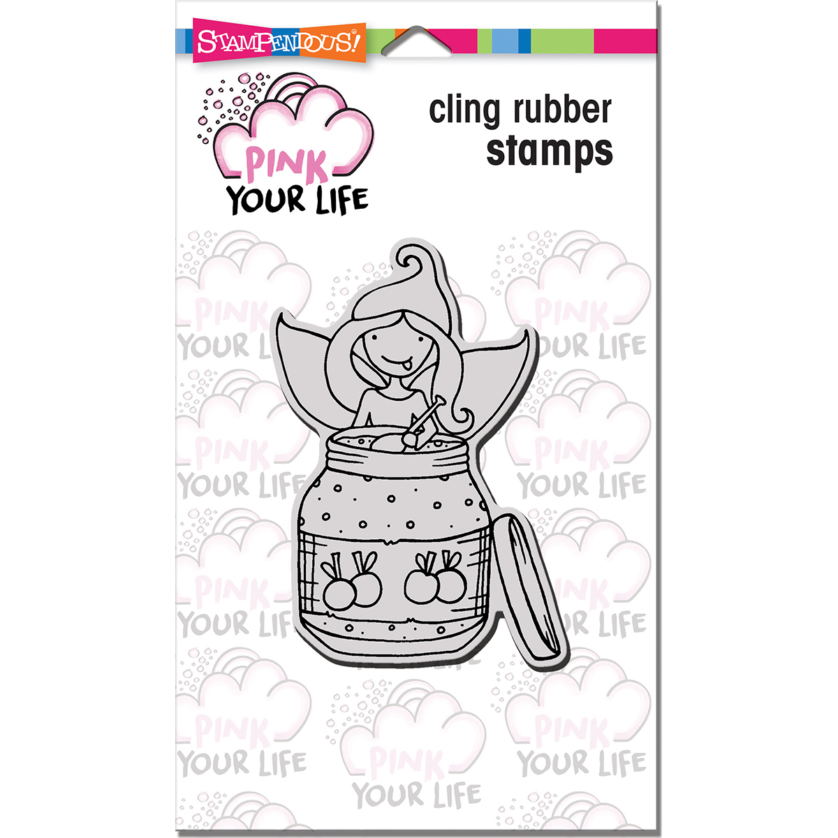 """Stampendous PLCP07 Stampendous Pink Your Life Cling Stamp 6.5""""X4.5"""" - Whisper Jam"""