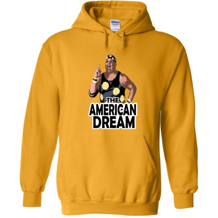 Gold Dusty Rhodes WWF WWE Old School Youth Small Hooded Sweatshirt (Wwe Hooded Sweatshirt)