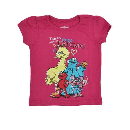 Toddler Girls Sesame Street Elmo Abby Good Friends T-Shirt